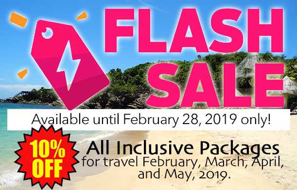 Flash Sale- Save 10% on All Inclusive Packages