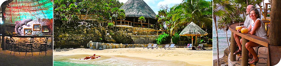 Paya Bay Resort - Roatan, Honduras : The Black Iguana Beach Bar and Lounge